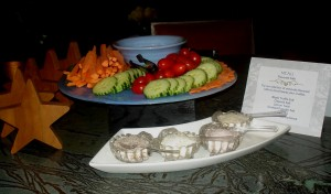 Crudite Display with Gourmet Salts
