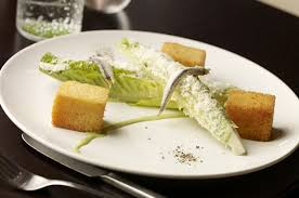 Deconstructed Caesar Salad w Anchovies
