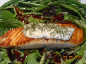Seared Wild Salmon with Cucumber Dill Sauce