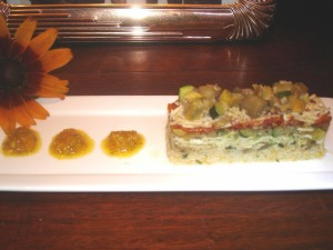 Mini First Course Vegetable Terrine 012