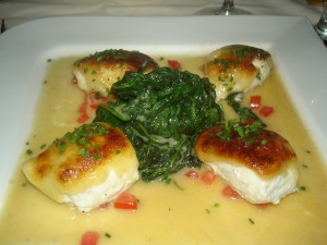 Parmesan Crusted Cod with Spinach