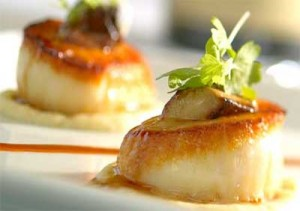 Pan Seared Scallops with Microgreens