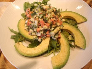Zucchini Salad with Avocado
